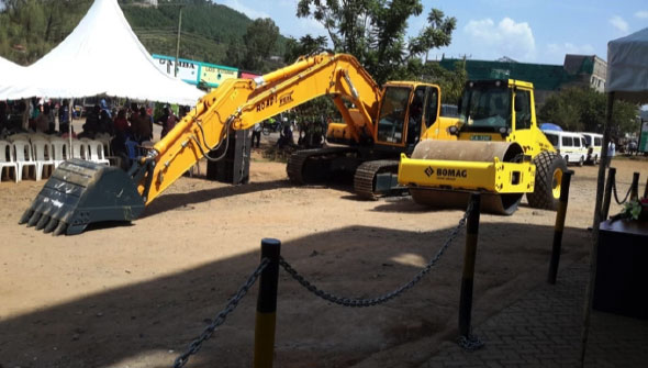 Launch of road works equipment at Posta Grounds in Migori town by Governor Okoth Obado