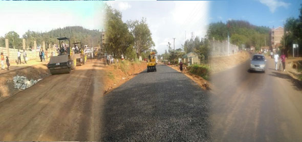 Posta- Ombo Junction Ring- Road under construction; and in use after completion