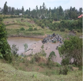 River Migori before construction of the bridge