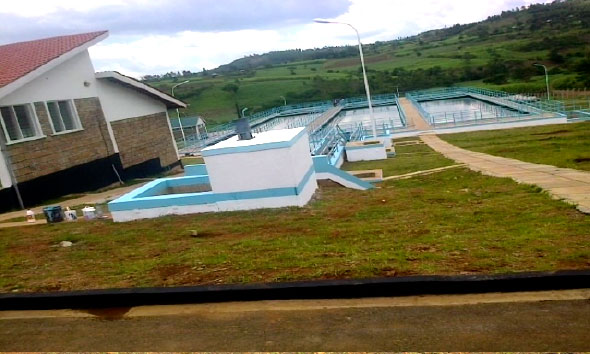 Migori water supply treatment plant at Oyani, Uriri Sub-County