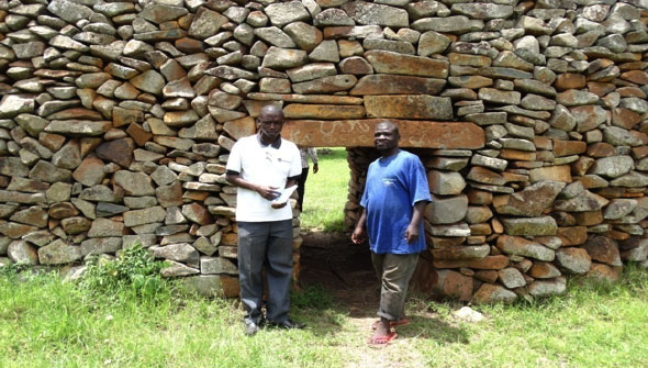 External wall of Thim-Lich Ohinga, Nyatike Sub-County
